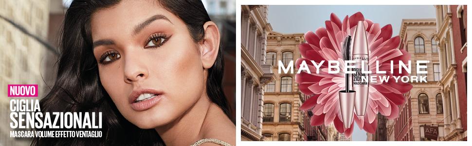 maybelline, mascara, ciglia sensazionali, volume, volumizzante