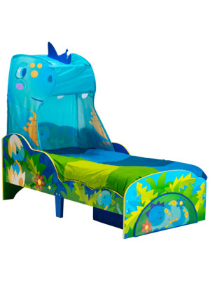 Dinosaur toddler Bed with Canopy