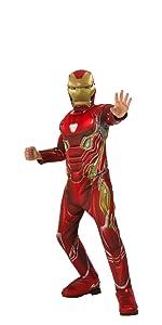 child's deluxe iron man costume