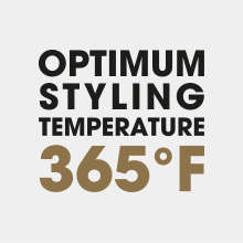 Optimum styling temperature