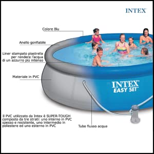 Intex 28202 easy set piscina fuoriterra diametro 457 cm - Piscina gonfiabile amazon ...