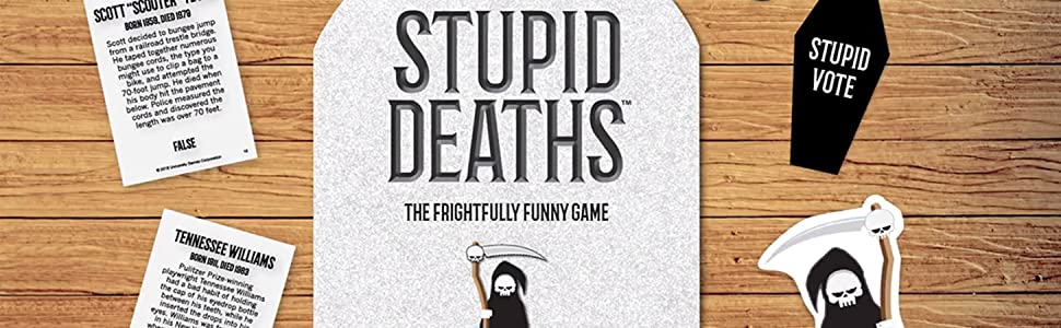 University Games Stupid Deaths, Funny Party Card Game & Board Game for  Adults and Teens Ages 12 and Up