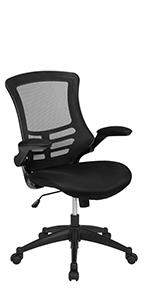 Mid-Back Black Mesh Swivel Ergonomic Task Office Chair