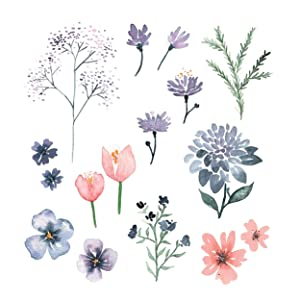 Watercolour, Watercolour Flowers, Floral Cards, Floral invitations, wedding, Birthday