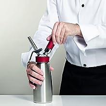 silber 160301 ISI1603 500ml Gourmet Whip Sahnespender Edelstahl