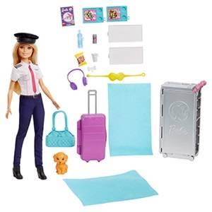 Barbie avión de tus sueños, avión de juguete con muñeca y accesorios para muñecas (mattel gbj33).