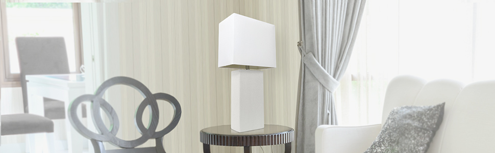 WHITE LT1025 LEATHER LAMP