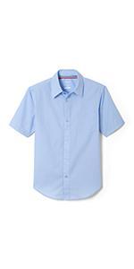 short sleeve dress shirt summer clothes for boys school uniform