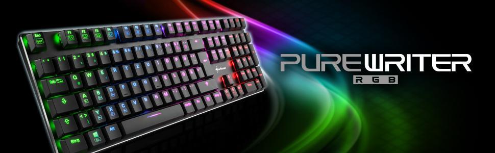 Sharkoon purewr iter RGB Teclado, negro