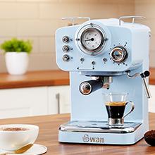 Swan SK22110BN cafetera espresso, Negro: Amazon.es: Hogar