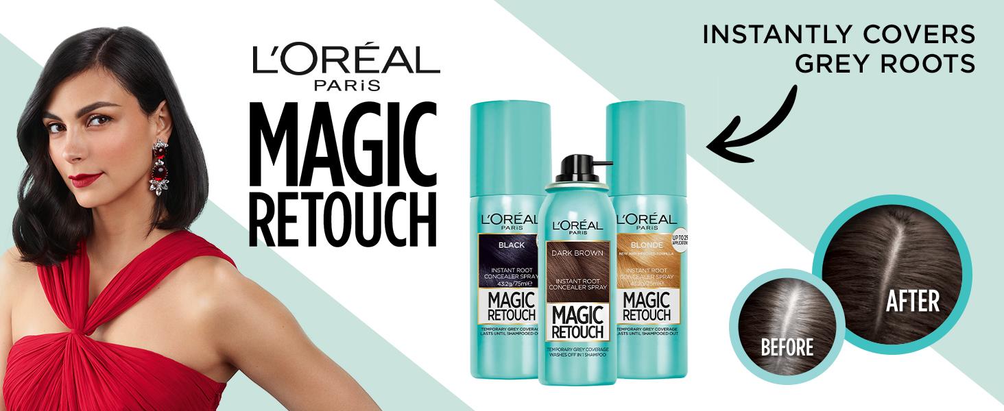 L'Oréal Paris Magic Retouch, Grey Roots, Magic Retouch, Hair Colour, Hair Spray
