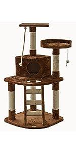 go pet club f49 cat tree condo furniture