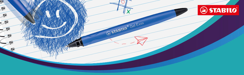 Radierbarer Gel Roller STABILO 3er Pack Blau Schwarz Rot Gelschreiber Gelroller
