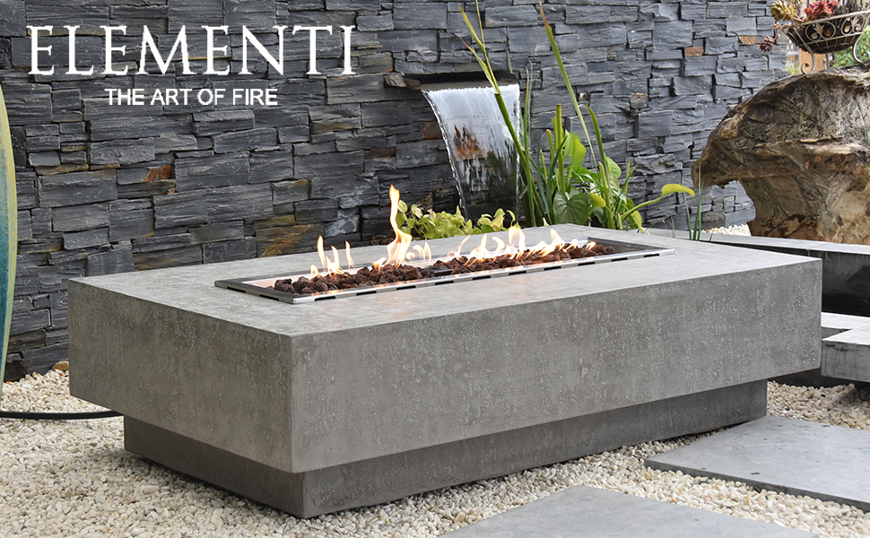 Amazon Com Elementi Hampton Outdoor Table 56 Inches Fire Pit