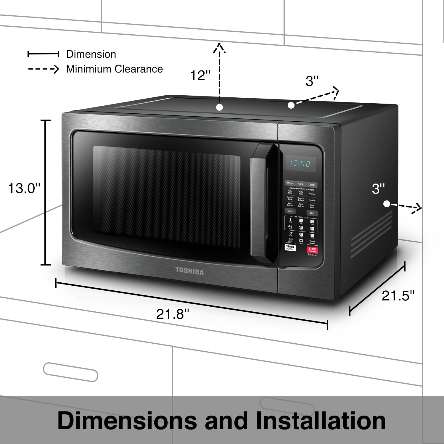 What Is The Function Of Microwave Oven: Amazon.com: Toshiba EC042A5C-BS Convection Microwave Oven