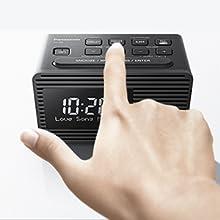 Panasonic Rc D8eg K Radiowecker Dab Usb Ladefunktion Snooze Taste Sleeptimer Favoritentaste Schwarz Heimkino Tv Video