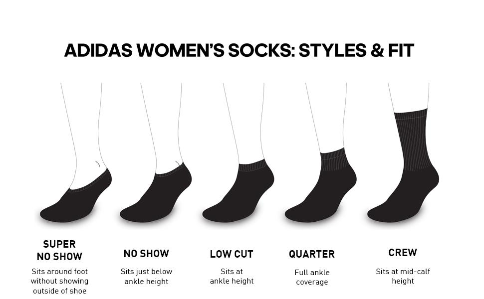 Womens Socks Styles & Fits