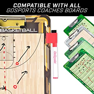 gosports dry erase coaching clipboard erasable markers training aid dry erase practice field