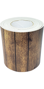 Dark Wood Straight Rolled Border Trim