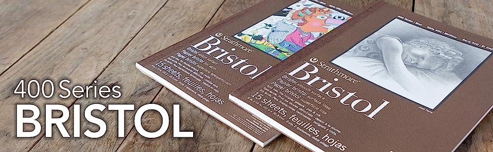 Strathmore 400 Series Bristol paper. Bristol smooth and vellum heavyweight paper