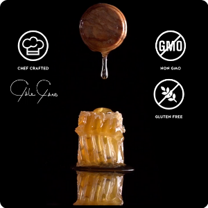 Honey dripping over a red pepper symbolizing the fresh amp; delicious ingredients in our Beef Jerky