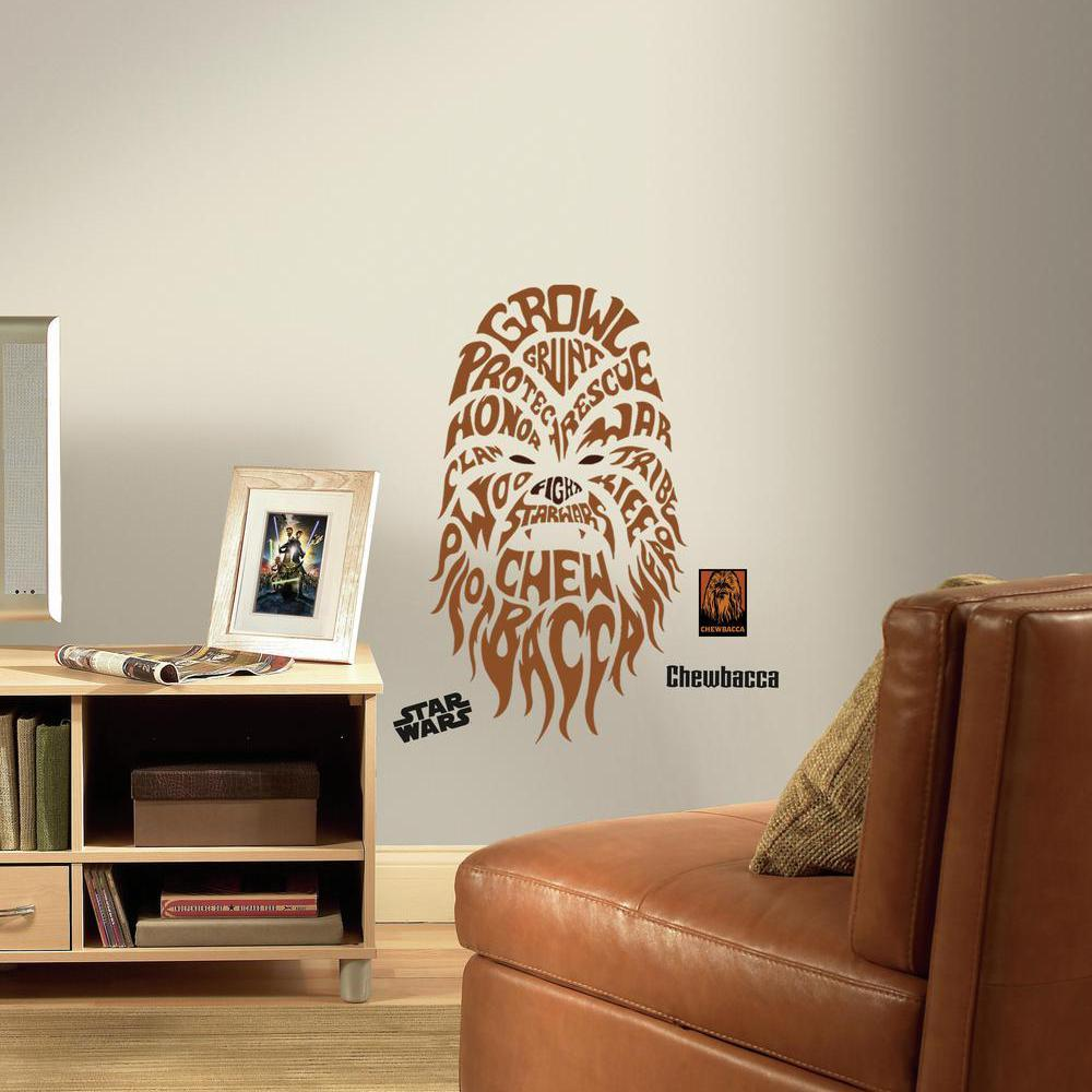 Amazon Roommates Star Wars Typographic Chewbacca Peel And Stick