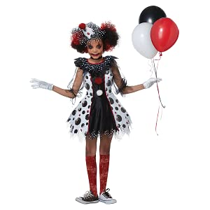 Halloween Clown Girl Outfit.Creepy Clown Costume For Kids