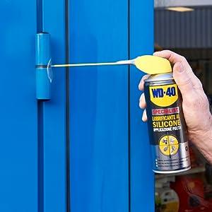 wd40 specialist, lubrificante al silicone, manutenzione fai da te, lubrificante spray, wd 40