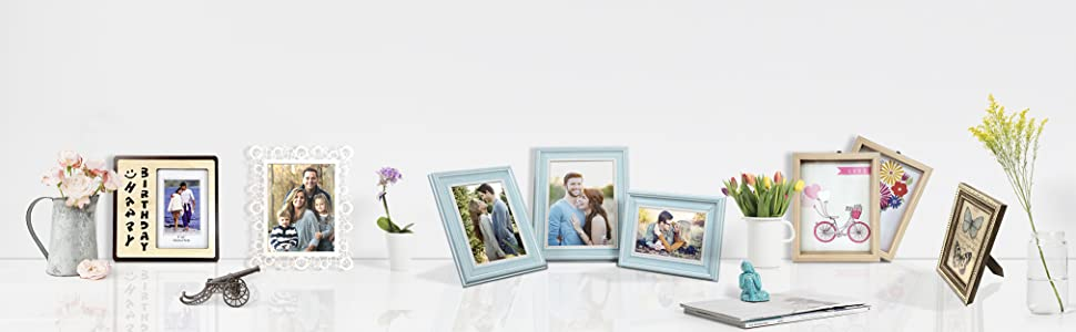 Table photo frame, side table photo frame, picture frame with stand, photo frame for gift