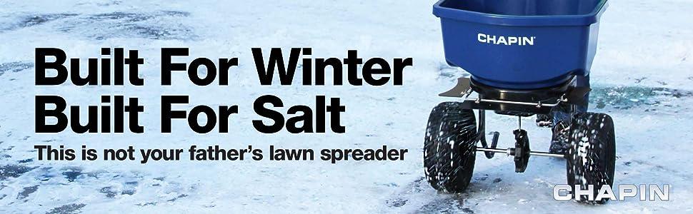 Chapin Spreader, Chapin, salt spreader, salt, ice melt, halite, broadcast spreader