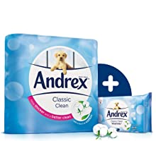 andrex;andrex toilet roll;andrex classic clean;toilet roll;toilet rolls;toilet paper;moist wipes