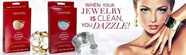 Connoisseurs Gold and Silver Polishing Kit, Dazzle your Jewelry , clean jewelry, jewelry cleaner