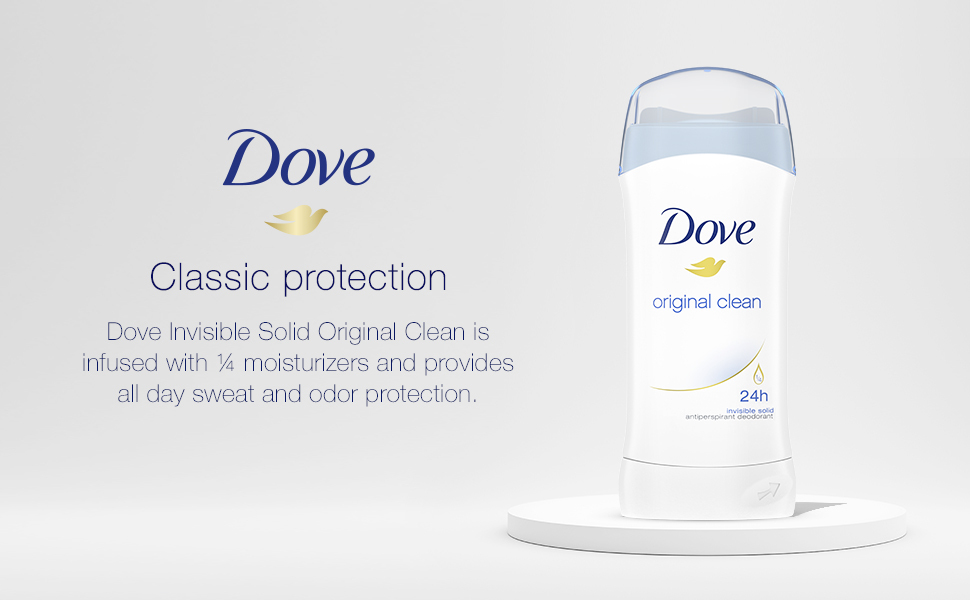 Dove IS Original Clean product on a pedestal