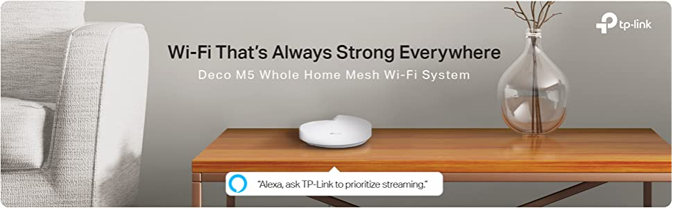 Whole Home Wi-Fi, Mesh, Deco, M5, Antivirus, router, range extender