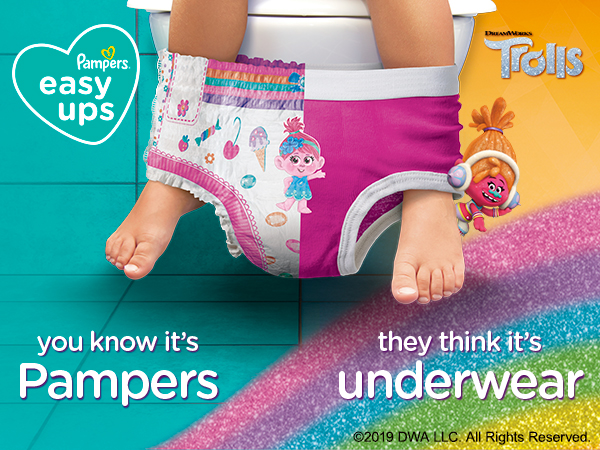 You know it's Pampers. They think it's underwear.