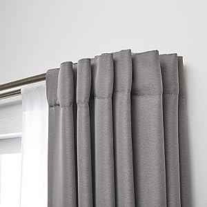 double curtain rod, curtain rod set, room darkening curtain rod, blackout curtain rod, curtain rod