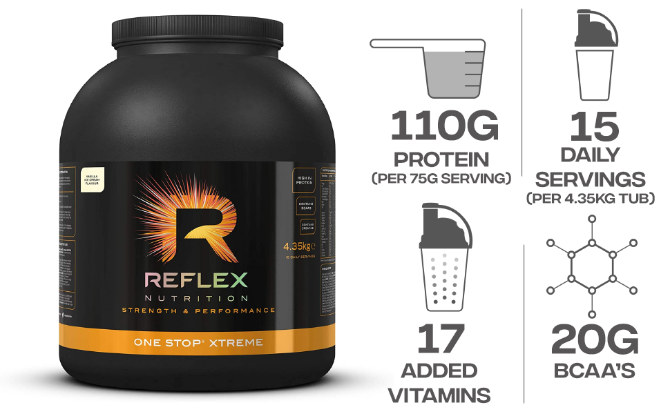 Reflex Nutrition One Stop Xtreme Vanilla Ice Cream - 4350 gr ...