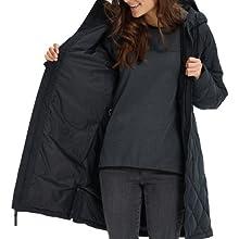 winter duck down jacket long warm comfort insulated