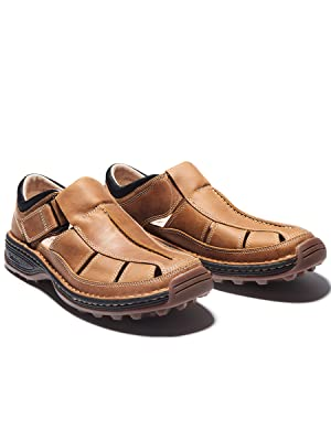altamont fisherman sandal, leather sandal, men's sandal, closed toe