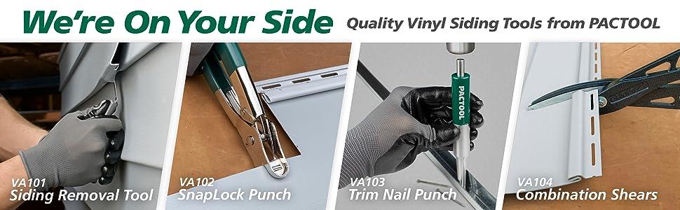 vinyl siding snips, vinyl siding tool, pactool vinyl siding tool, aluminum siding snips