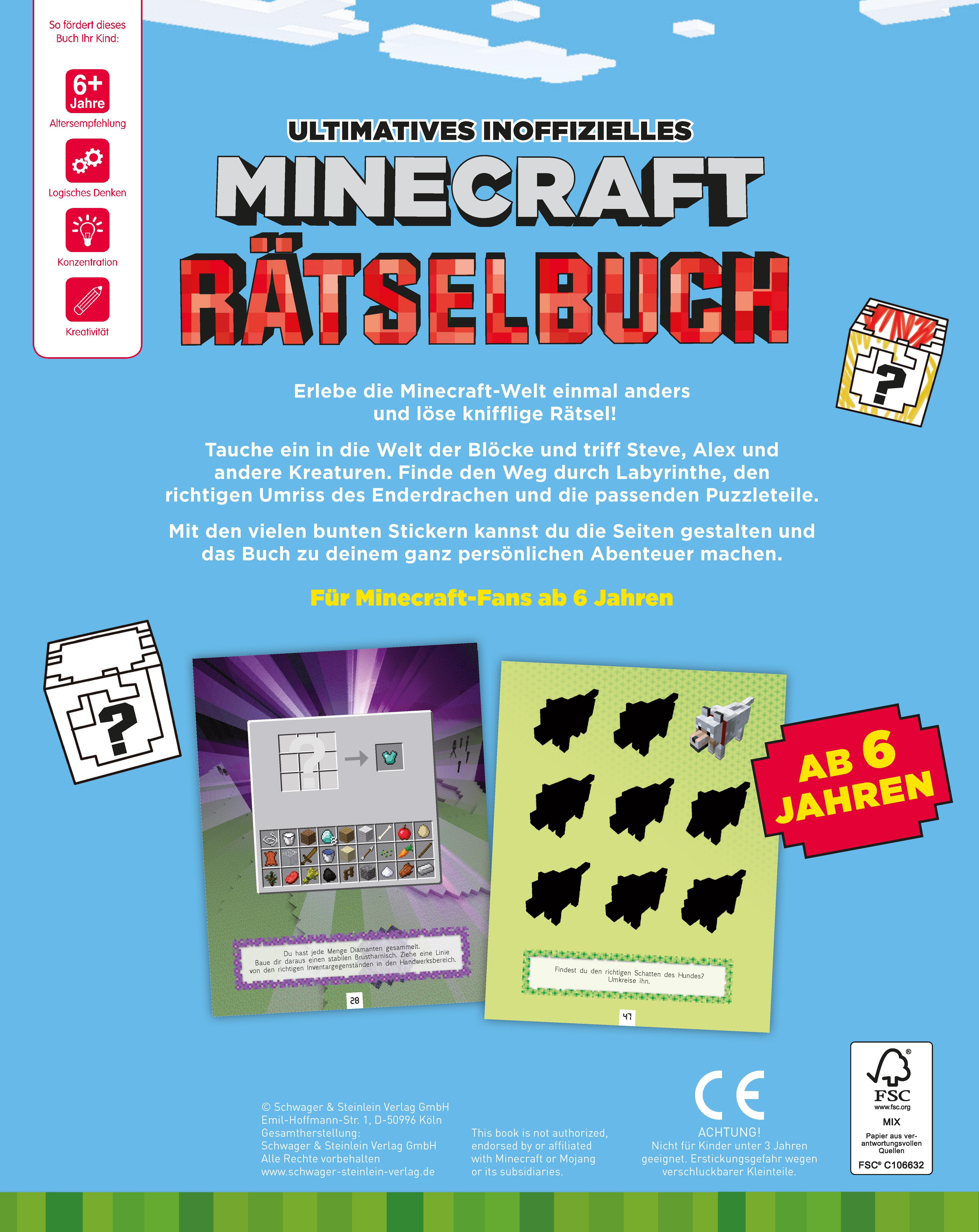 Ultimatives Inoffizielles Minecraft Rätselbuch Mit Vielen Bunten