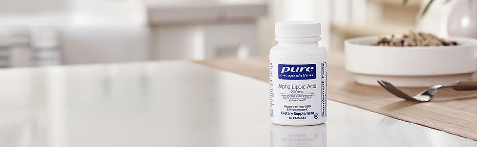 Pure - Alpha Lipoic Acid 200 mg - Hypoallergenic Water- and Lipid-Soluble Antioxidant Supplement