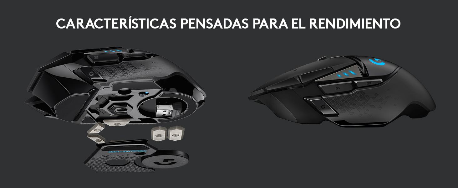 Logitech G502 LIGHTSPEED Ratón Gaming Inalámbrico, Sensor HERO 16K ...