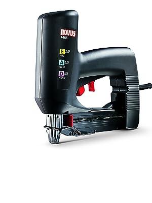 Agrafeuse universelle /à faible recul pour travaux /& d/écoration Novus Agrafeuse /électrique professionnelle J-165 Cloueuse agrafeuse filaire pour charpentier