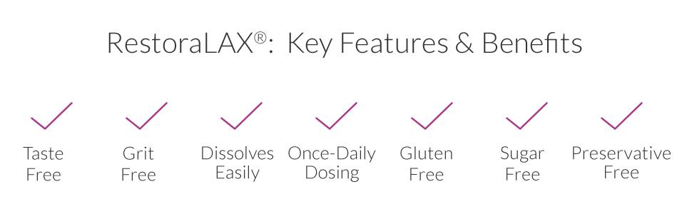 Restoralax Powder Laxative Effective Relief No Taste No