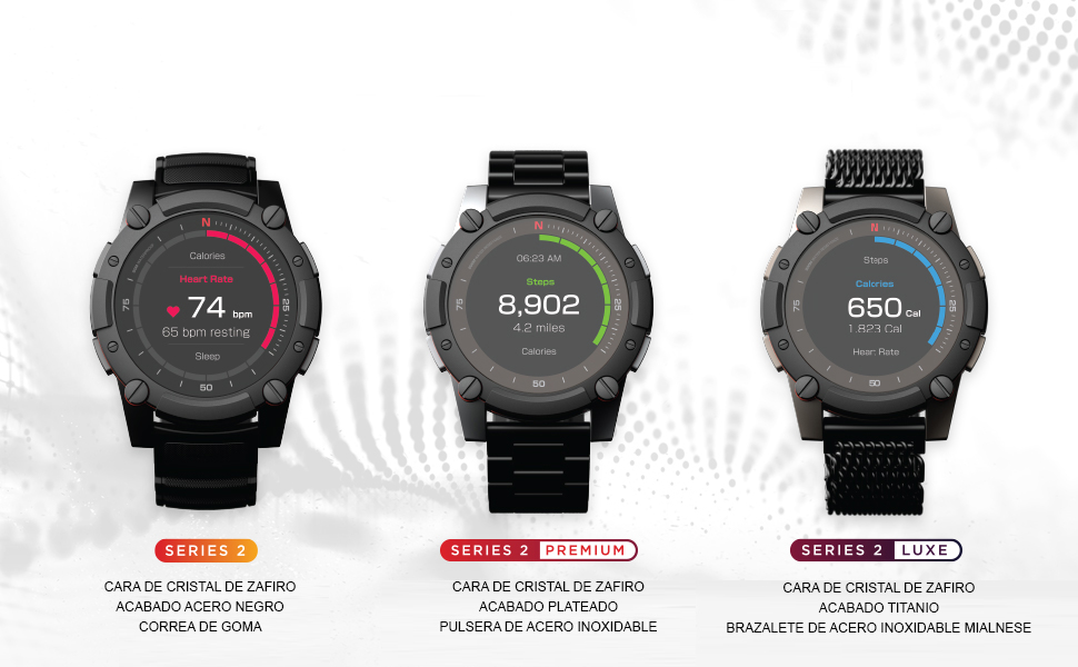 PowerWatch 2 Luxe Edition - Reloj Inteligente, Deportivo ...