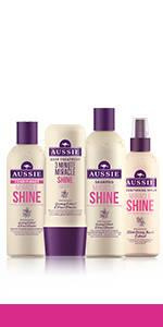 aussie Miracle Shine hair collection