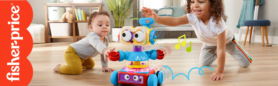 Fisher-Price 4-in-1 Ultimate Learning Bot - Baby & Toddler playing plus Fisher-Price Logo