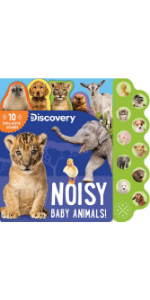 Noisy Baby Animals, Discovery Board Book, 10 Button Sound book, Children's Book