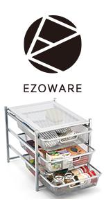 eab8cd3642e1a EZOWare Etagère de Rangement à 3 étages · EZOWare Étagère Rangement en Le  Fer · EZOWare Support de Rangement épice · EZOWare Étagère Tiroir à Mailles  Métal ...